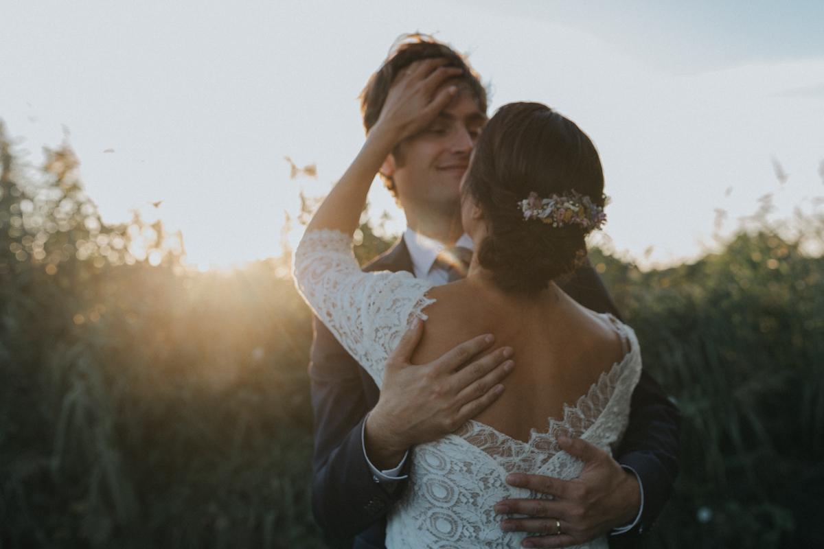 couple bohème chic mariage vendée